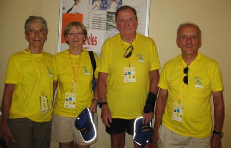 Les 4 bénévoles